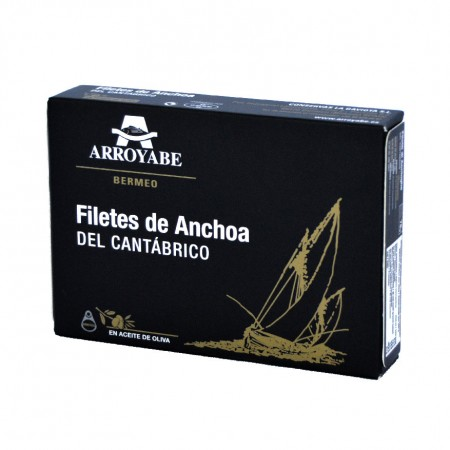 Premium anchovies in olive oil