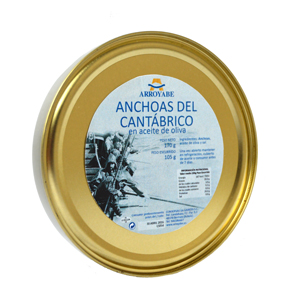 Cantabrian premium anchovies 170 gr. can