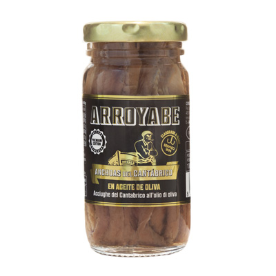 Arroyabe anchovies in jar 100 gr.