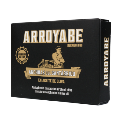 Arroyabe anchovies in can
