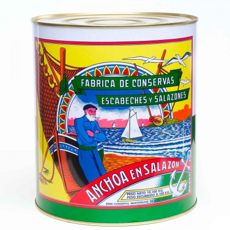Arroyabe anchovies in salt 10 kgs.